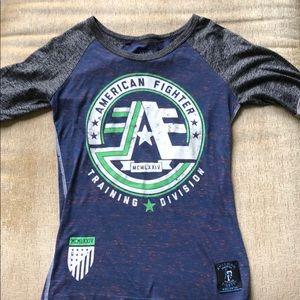 American Fighter quarter T-shirt